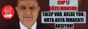 CHP'li Güzelmansur: Talep var, belge yok: Orta Asya ihracatı aksıyor!
