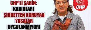 CHP'li Şahin: Kadınları şiddetten koruyan yasalar uygulanmıyor!