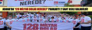 Adana'da '128 milyar Dolar nerede?' pankartı 2 saat asılı kalabildi!
