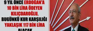 9 yıl önce Erdoğan'a 10 bin lira ödeyen Kılıçdaroğlu, bugünkü kur karşılığı yaklaşık 117 bin lira alacak