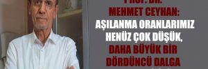 Prof. Dr. Mehmet Ceyhan: Aşılanma oranlarımız henüz çok düşük, daha büyük bir dördüncü dalga yaşayabiliriz