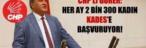 CHP'li Gürer: Her ay 2 bin 300 kadın KADES'e başvuruyor!