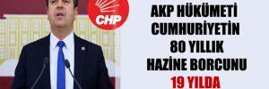 CHP'li Tutdere: AKP hükümeti Cumhuriyetin 80 yıllık hazine borcunu 19 yılda yediye katladı!