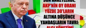 Son anketlerde, AKP'nin oy oranı yüzde 30'ların altına düşünce yandaşların tavrı: Algı yönetimi
