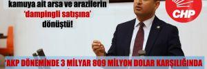 CHP'li Bulut: Özelleştirme, kamuya ait arsa ve arazilerin 'dampingli satışına' dönüştü!