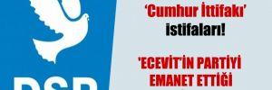DSP'de Cumhur İttifakı istifaları!