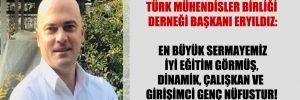 Türk Mühendisler Birliği Derneği Başkanı Eryıldız: En büyük sermayemiz iyi eğitim görmüş, dinamik, çalışkan ve girişimci genç nüfustur!