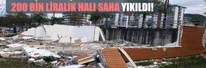 129 kişinin yaşadığı köye yapılan 200 bin liralık halı saha yıkıldı!