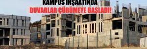 İki yıl önce durdurulan Hitit Üniversitesi kampus inşaatında duvarlar çürümeye başladı!