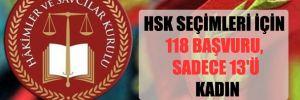 HSK seçimleri için 118 başvuru, sadece 13'ü kadın