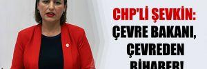 CHP'li Şevkin: Çevre Bakanı, çevreden bihaber!
