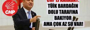 CHP'li Karabat: TÜİK bardağın dolu tarafına bakıyor ama çok az su var!