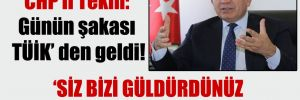 CHP'li Tekin: Günün şakası TÜİK' den geldi!