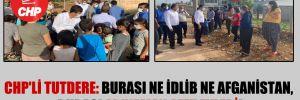CHP'li Tutdere: Burası ne İdlib ne Afganistan, burası Adıyaman afet evleri!