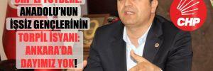 CHP'li Tutdere: Anadolu'nun işsiz gençlerinin torpil isyanı: Ankara'da dayımız yok!