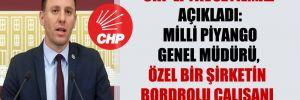 CHP'li Yavuzyılmaz açıkladı: Milli Piyango Genel Müdürü, özel bir şirketin bordrolu çalışanı çıktı!