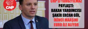 CHP'li Yavuzyılmaz paylaştı: Bakan Yardımcısı Şakir Ercan Gül, ikinci maaşını Euro ile alıyor