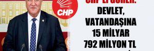 CHP'li Gürer: Devlet, vatandaşına 15 milyar 792 milyon TL ceza kesti