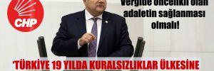 CHP'li Sındır: Vergide öncelikli olan adaletin sağlanması olmalı!
