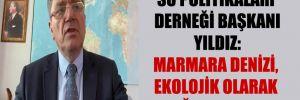 Su Politikaları Derneği Başkanı Yıldız: Marmara denizi, ekolojik olarak ağır yaralı!