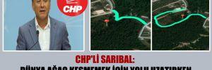 CHP'li Sarıbal: Dünya ağaç kesmemek için yolu uzatırken biz ağaç kesmek için yolu uzatıyoruz!