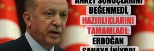 Anket sonuçlarını beğenmedi, hazırlıklarını tamamladı: Erdoğan sahaya iniyor!