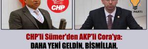 CHP'li Sümer'den AKP'li Cora'ya: Daha yeni geldin, Bismillah, bir dur bakalım, nefes al sonra laf atarsın