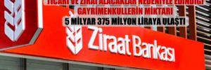 Ziraat Bankası'nın bireysel, ticari ve zirai alacaklar nedeniyle edindiği gayrimenkullerin miktarı 5 milyar 375 milyon liraya ulaştı