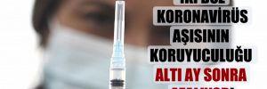 İki doz Koronavirüs aşısının koruyuculuğu altı ay sonra azalıyor!