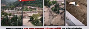 Bozkurt'ta sel sularının yükseldiği ve bir kişinin sulara kapıldığı anlar böyle görüntülendi!
