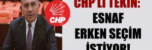 CHP'li Tekin: Esnaf erken seçim istiyor!