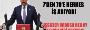 CHP'li Sümer: 7'den 70'e herkes iş arıyor!