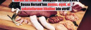 'AKP, Diyanet'in açıklamasıyla deniz ürünlerinin 'haram mı helal mı' olduğunu tartıştırırken, Bosna Hersek'ten domuz, eşek, at sakatatlarının ithaline izin verdi'