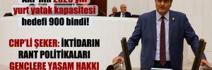 CHP'li Şeker: İktidarın rant politikaları gençlere yaşam hakkı tanımıyor!