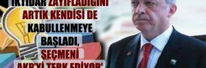 'İktidar zayıfladığını artık kendisi de kabullenmeye başladı, seçmeni AKP'yi terk ediyor'