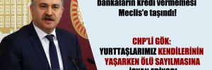 CHP'li Gök: Yurttaşlarımız kendilerinin yaşarken ölü sayılmasına isyan ediyor!