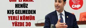 CHP'li Akın: Henüz kış gelmeden yerli kömür yüzde 30 zamlandı!