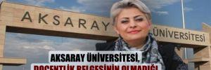 Aksaray Üniversitesi, doçentlik belgesinin olmadığı ortaya çıkan Atalay'ın atamasının iptal etti!