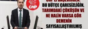 CHP'li Başevirgen: Bu bütçe çaresizliğin, tarımdaki çöküşün ve ne halin varsa gör demenin sayısallaştırılmış halidir!