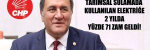 CHP'li Gürer: Tarımsal sulamada kullanılan elektriğe 2 yılda yüzde 71 zam geldi!