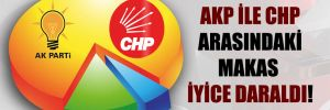 AKP ile CHP arasındaki makas iyice daraldı!