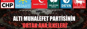 Altı muhalefet partisinin 'ortak ana ilkeleri' yazılı hale gelecek!