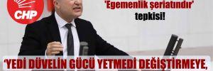 CHP'li Bakan'dan 'Egemenlik şeriatındır' tepkisi!