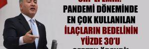 CHP'li Emir: Pandemi döneminde en çok kullanılan ilaçların bedelinin yüzde 30'u cepten ödendi!