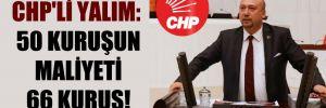 CHP'li Yalım: 50 kuruşun maliyeti 66 kuruş!