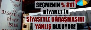 Seçmenin yüzde 81'i Diyanet'in siyasetle uğraşmasını yanlış buluyor!