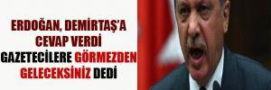Erdoğan'dan Demirtaş'a cevap, basına uyarı
