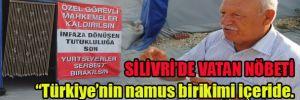 Silivri'de direncin çadırları