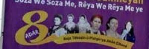 3 PKK'lı için bastırılan kadınlar günü afişine toplatma kararı