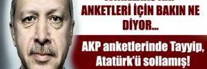 AKP anketlerinde Tayyip, Atatürk'ü sollamış
